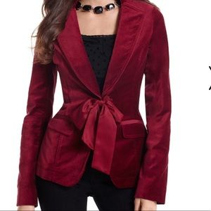 White House Black Markket RUBY VELVET JACKET